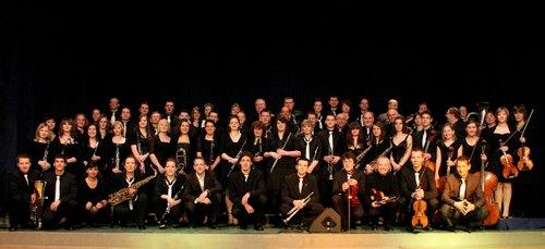Der Musikverein vor dem Jahreskonzert 2011
