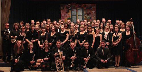 Musikverein vor dem Jahreskonzert 2012