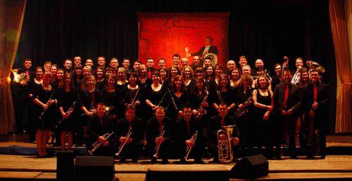Musikverein vor dem Jahreskonzert 2013