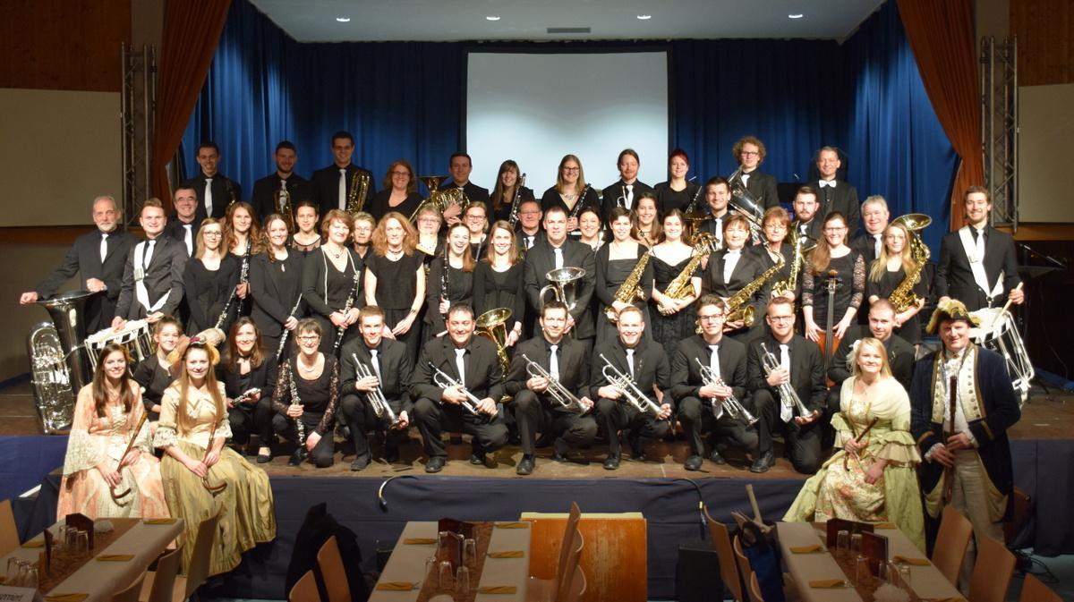 Der Musikverein vor dem Jahreskonzert 2018