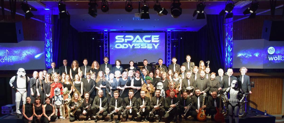 Der Musikverein vor dem Jahreskonzert 2019