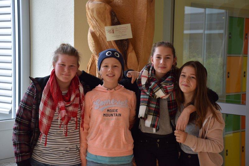 v.l.n.r.: Lea Kronenberger, Lilly Müller, Anna Sieglin und Antonia Müller