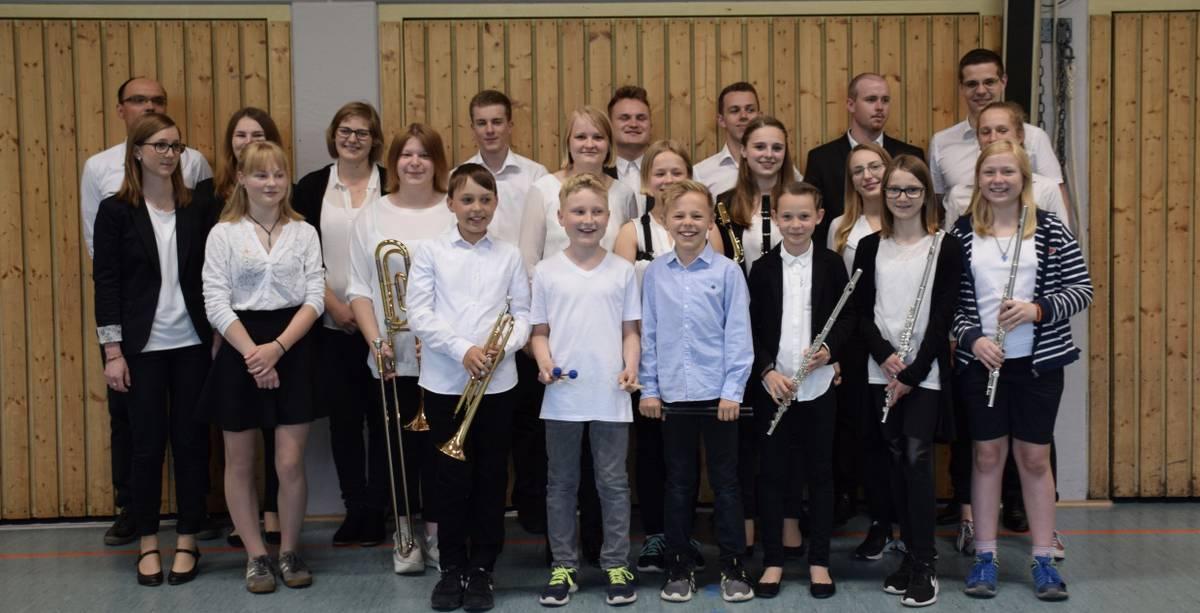 Das Jugendorchester des Musikvereins Wollbach